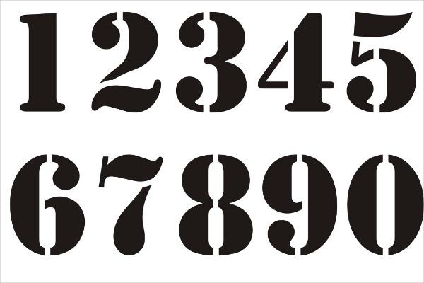 number stencils uk